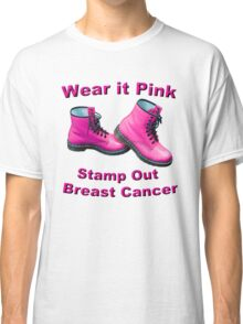 Wear It Pink Stamp Out Breast Cancer Classic T-Shirt