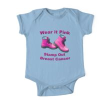 Wear It Pink Stamp Out Breast Cancer One Piece - Short Sleeve