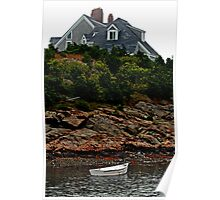 Mansion and Rowboat Poster