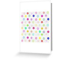 Girly Bright Pastel Rainbow Watercolor Polka Dots Greeting Card