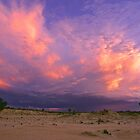 Storm tail at sunset - Lake Mungo, NSW  by graphicscapes