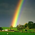 Rainbow's end - farmland, New Zealand by graphicscapes