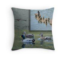 Water Fowl Throw Pillow