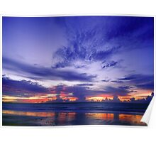 Wet Season Sunset - Mindl beach, Darwin Poster