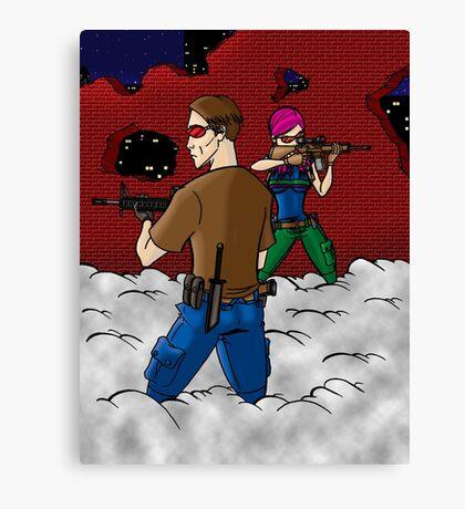 Zombie Hunters Canvas Print