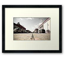 """ I felt like , Road kill "". Framed Print"