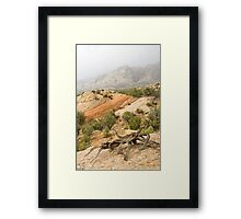 Misty Day at Split Mountain & the Crabsnag Framed Print