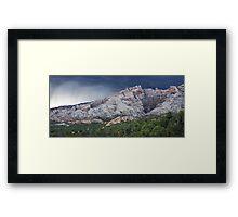 Split Mountain Storm Panorama Framed Print
