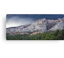 Split Mountain Storm Panorama Canvas Print