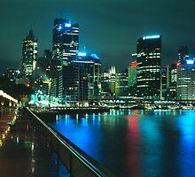 City night skyline - Sydney, Australia by graphicscapes