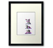 Yoga Hippo Framed Print