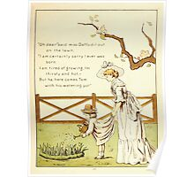 The Glad Year Round for Boys and Girls by Almira George Plympton and Kate Greenaway 1882 0019 Miss Daffodil Poster