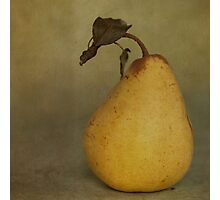 Golden Pear Photographic Print