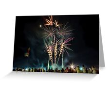 Newcastle Show Fireworks Greeting Card