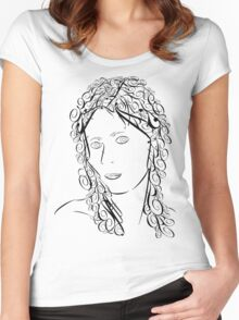 Typeface Woman Women's Fitted Scoop T-Shirt