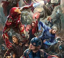 Avengers: Age of Ultron Team Art by louytwosocks