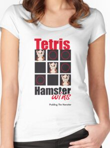 Pudding The Hamster - Tetris Women's Fitted Scoop T-Shirt