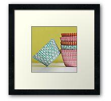 Cupcake Liner Framed Print