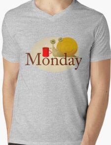 Monday Snail Mens V-Neck T-Shirt