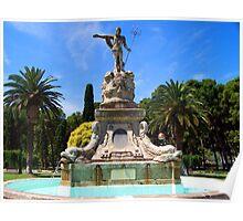 Fountain Statue of Poseidon Poster
