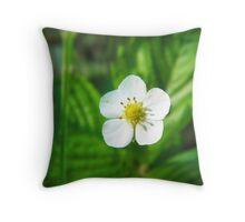 Strawberry blossom Throw Pillow