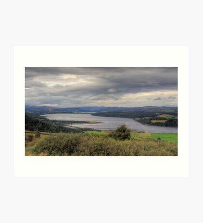 Dornoch Firth in HDR Art Print