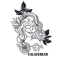 CALAVEREAR sugar skull girl Photographic Print