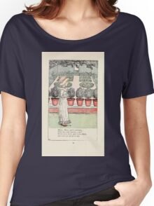 Mother Goose or the Old Nursery Rhymes by Kate Greenaway 1881 0034 Mary Mary Quite Contrary Women's Relaxed Fit T-Shirt