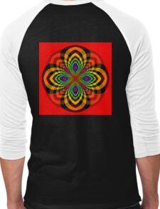 Rainbow Star Flower Men's Baseball ¾ T-Shirt
