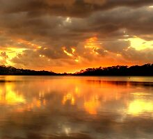 Chasing The Light (20 Exposure HDR Panoramic) - Narrabeen Lakes - The HDR Experience by Philip Johnson
