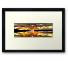 Chasing The Light (20 Exposure HDR Panoramic) - Narrabeen Lakes - The HDR Experience Framed Print