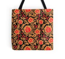 The Khokhloma Kulture Pattern Tote Bag