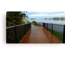 Manning River walk way 01 Canvas Print