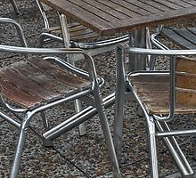 Chrome, concrete and wood by awefaul