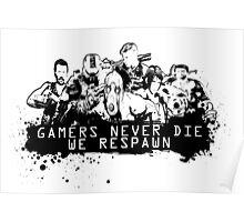We never die! Poster
