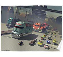 Mega City street Poster
