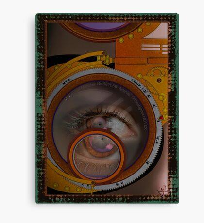 eye as a lens - steampunk variations Canvas Print