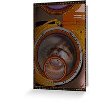 eye as a lens - steampunk variations Greeting Card