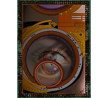 eye as a lens - steampunk variations Photographic Print