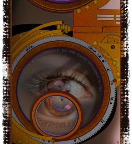 eye as a lens - steampunk variations Sticker
