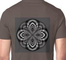 Black and White Star Flower Unisex T-Shirt