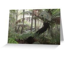 Cathedral of Ferns in Mist card Greeting Card