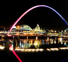 Newcastle-Millenium Bridge by Sunsetman2009