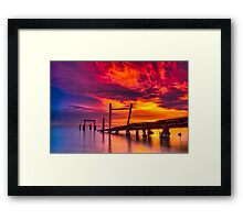Dusk at Elwood Jetty #1 Framed Print