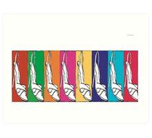 Rainbow Shoes Art Print