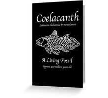 Coelacanth Living Fossil Greeting Card
