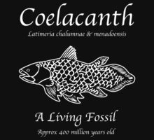 Coelacanth Living Fossil Kids Tee