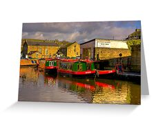 Jack,Rosie & Jim (Canal Basin) - Skipton Greeting Card