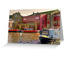 Canalside Bar  - Skipton Greeting Card