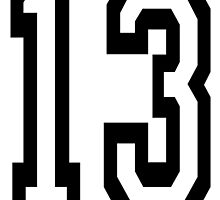 13, TEAM SPORTS, NUMBER 13, THIRTEEN, THIRTEENTH, ONE, THREE, Competition,  by TOM HILL - Designer